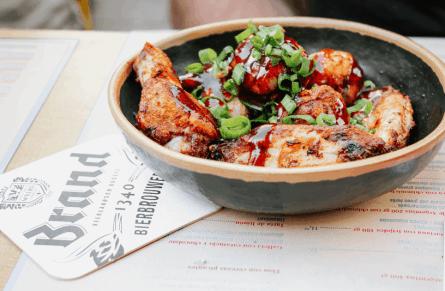 Alitas de pollo adobadas fresco