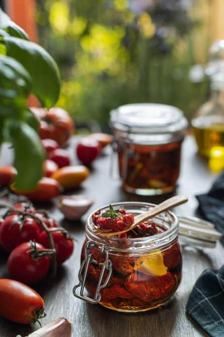 Jitomates Deshidratados en Aceite de Olivo