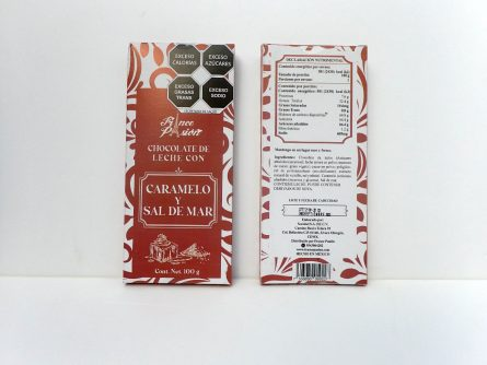 Tableta Chocolate de Leche con Caramelo y Sal de Mar